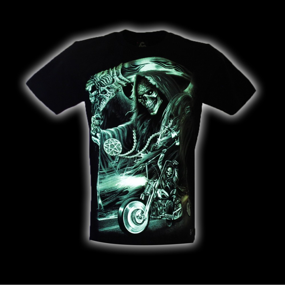 T-shirt Reaper Skull Glow in the Dark