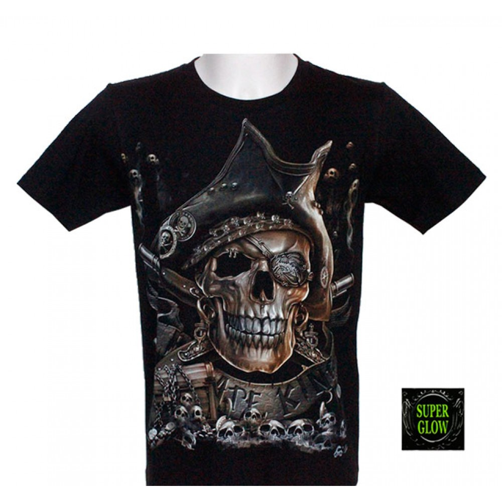 T-shirt Noctilucent Pirate Skull