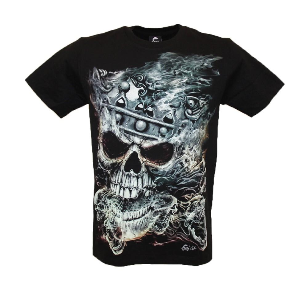 T-shirt Skull King  Glow in the Dark