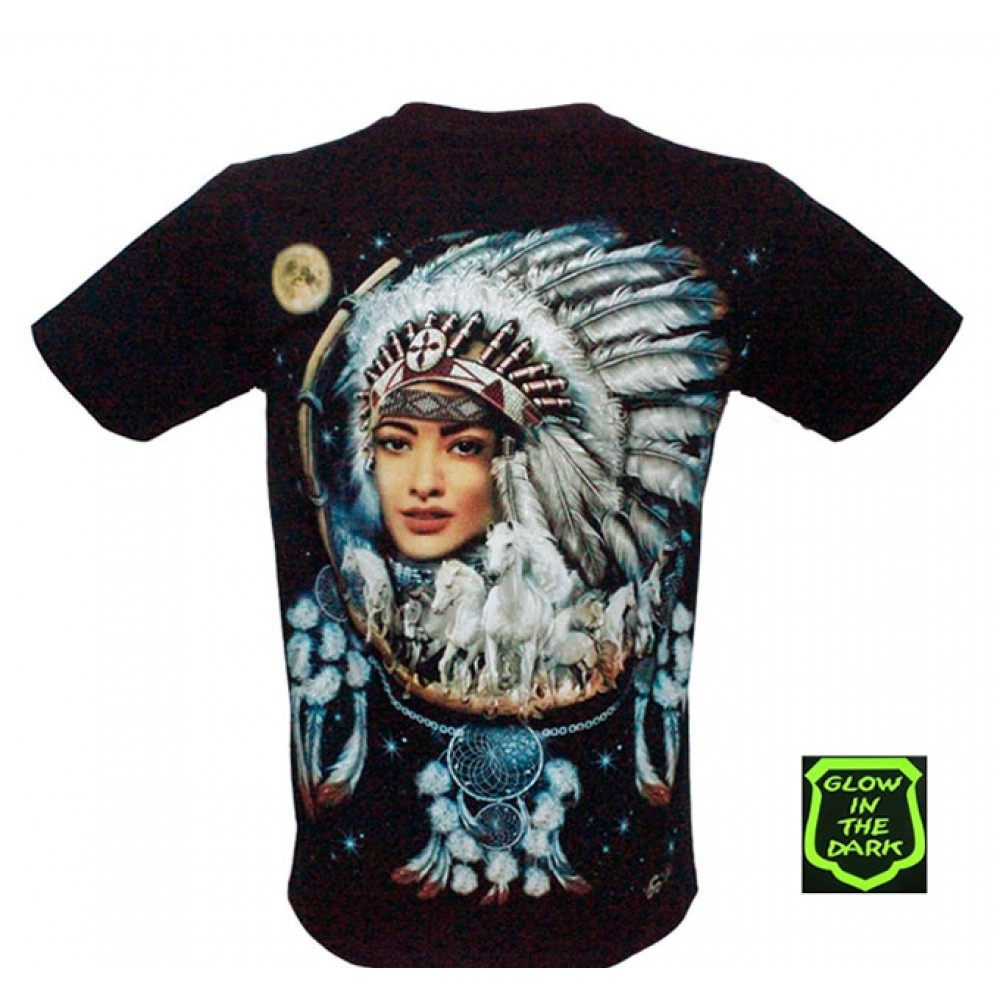 T-shirt Noctilucent Indian