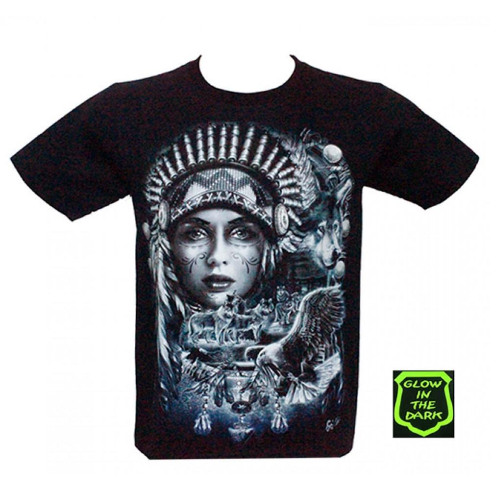 T-shirt Noctilucent Indian