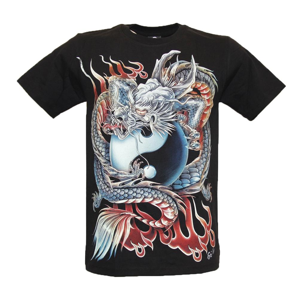 T-shirt Noctilucent Dragon and Taiji