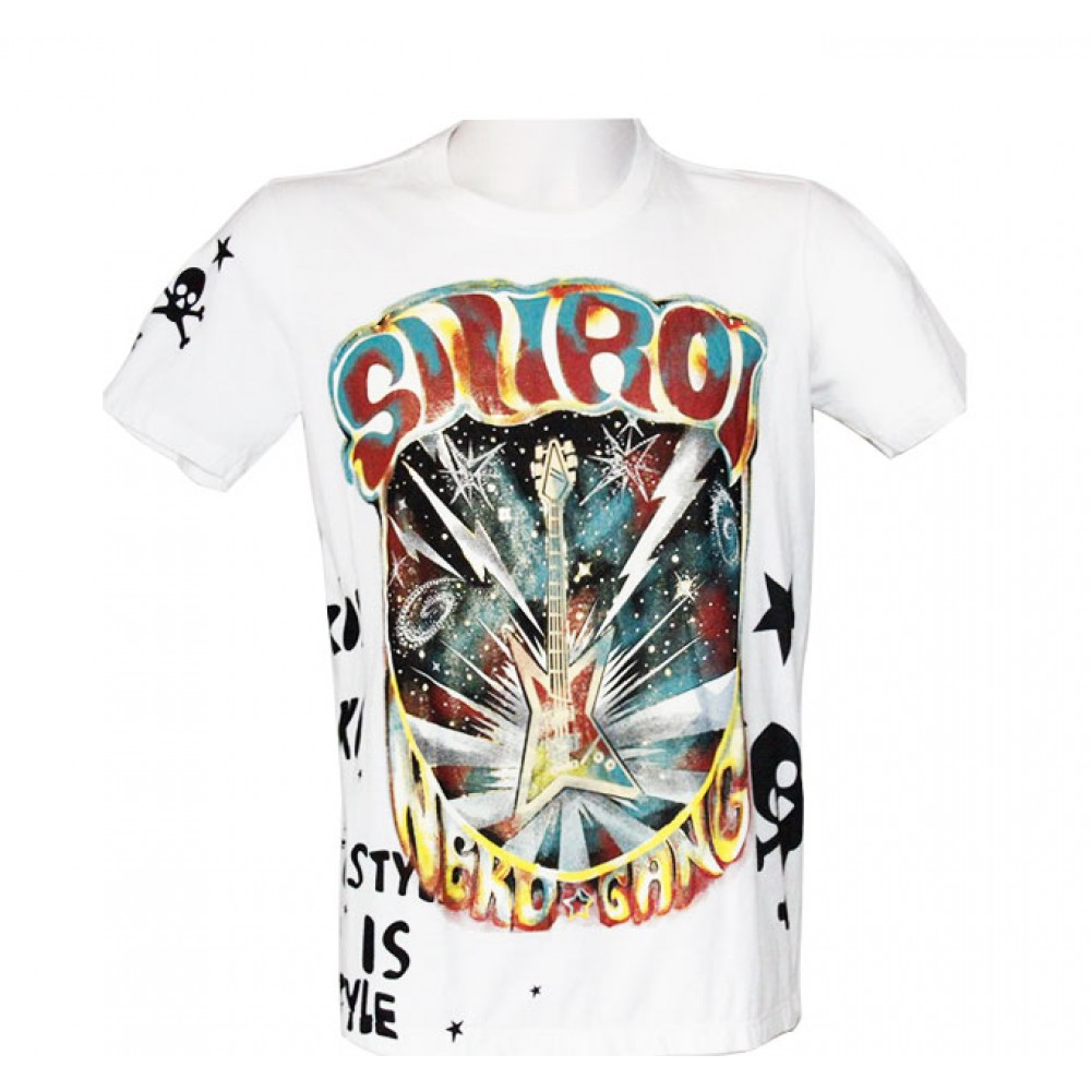 White T-shirt Rock Guitar