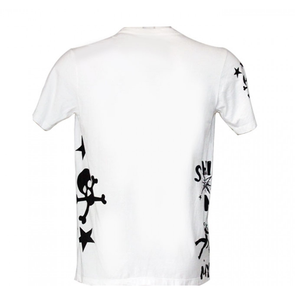 White T-shirt Rock Guitar