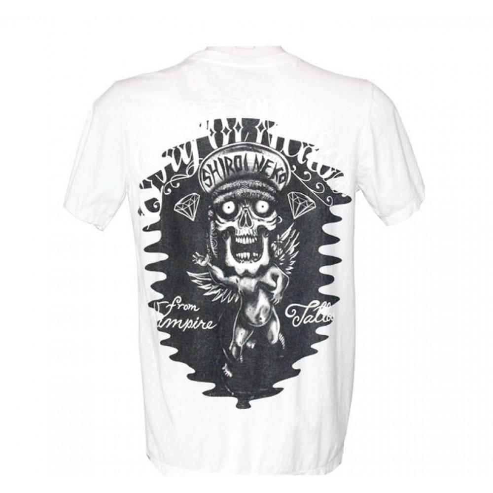 White T-shirt Minute Mirth Skull