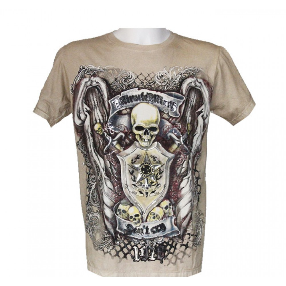T-shirt Minute Mirth Skull and Shield