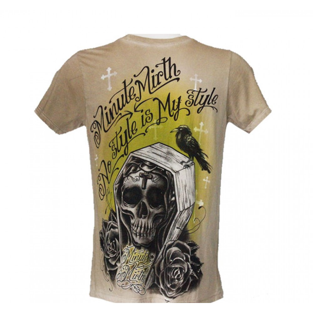 T-shirt Minute Mirth Skull in Coffin