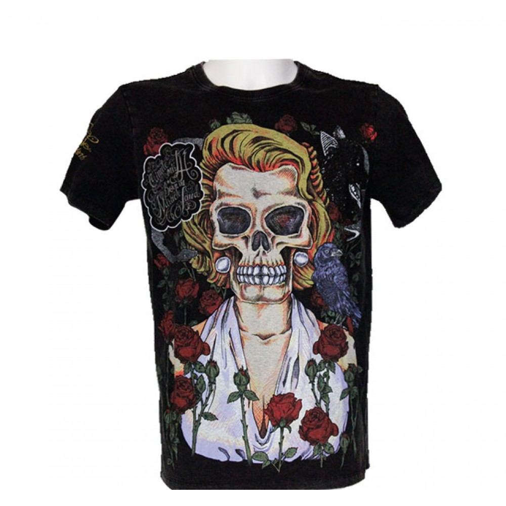 T-shirt Minute Mirth Skeleton with Roses