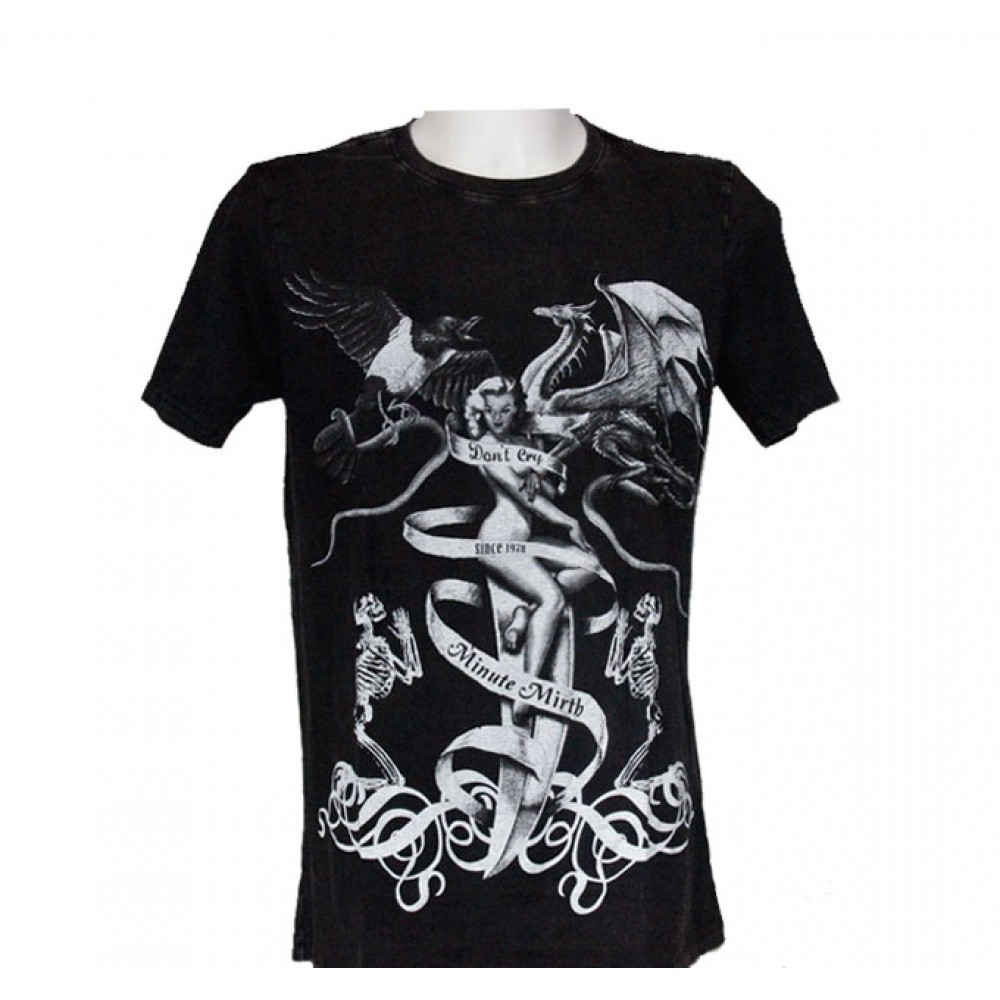 T-shirt Minute Mirth Woman with Eagle and Dragon