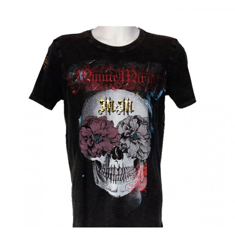 Black T-shirt Minute Mirth Skull
