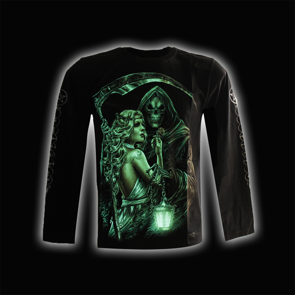 T-shirt  Sad Reaper with Blond Woman and Noctilucent