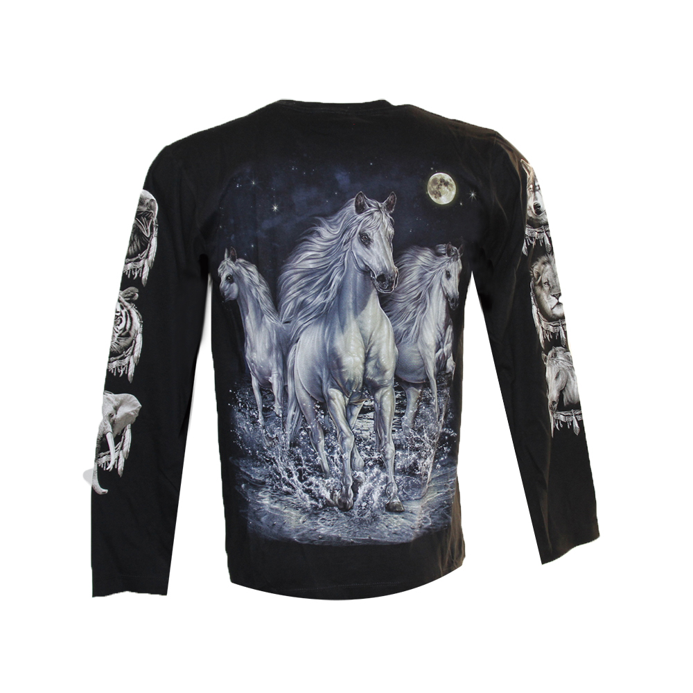 T-shirt  White Horses and Full Moon