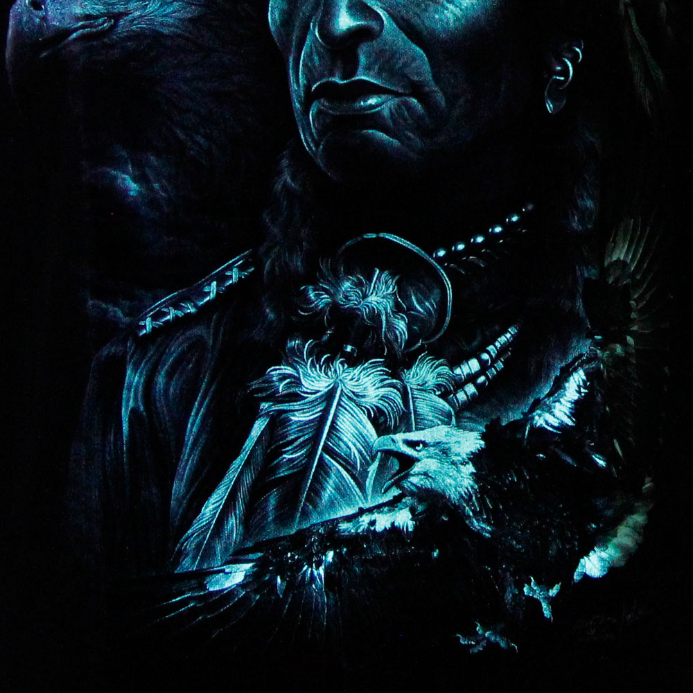 T-shirt Noctilucent Indian with Eagle