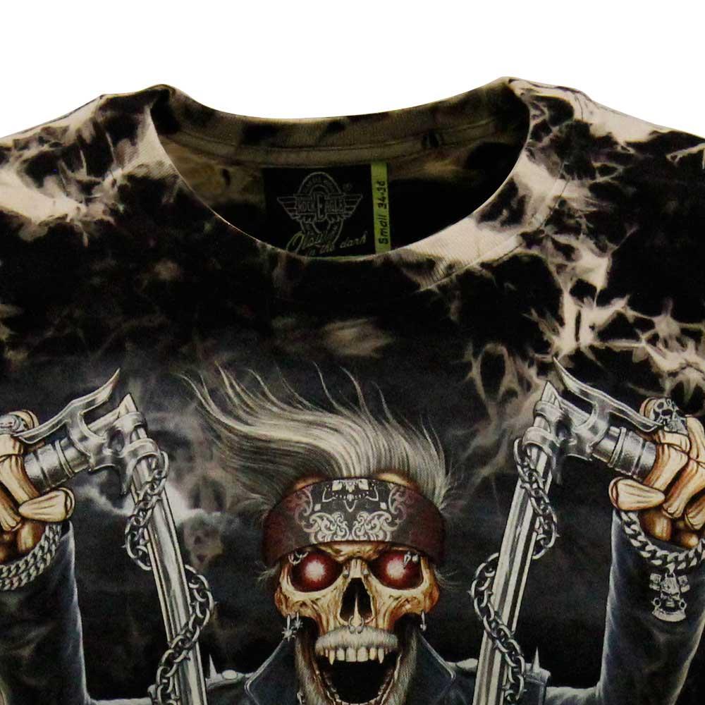 T-shirt Tie-Dye Death in Motorcycle