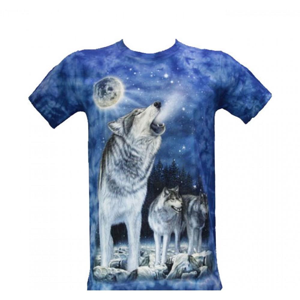 T-shirt Tie-Dye Wolf