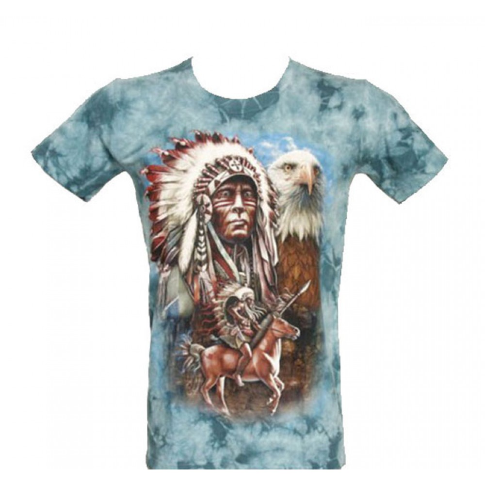 T-shirt Tie-Dye Indian with Eagle