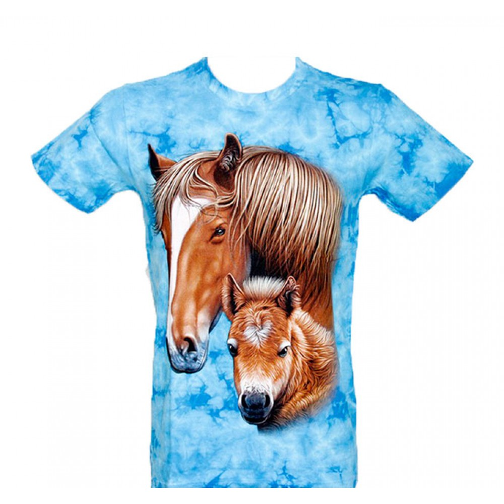 T-shirt Tie-Dye Horse
