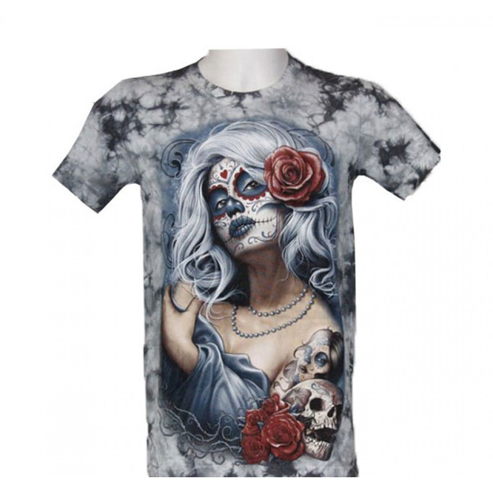 T-shirt Tie-Dye Tattooed Girl