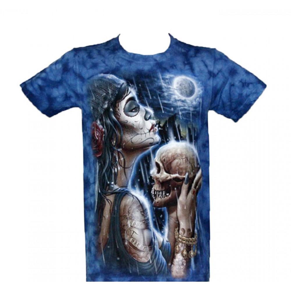 T-shirt Tie-Dye Tattooed Beauty with Skull