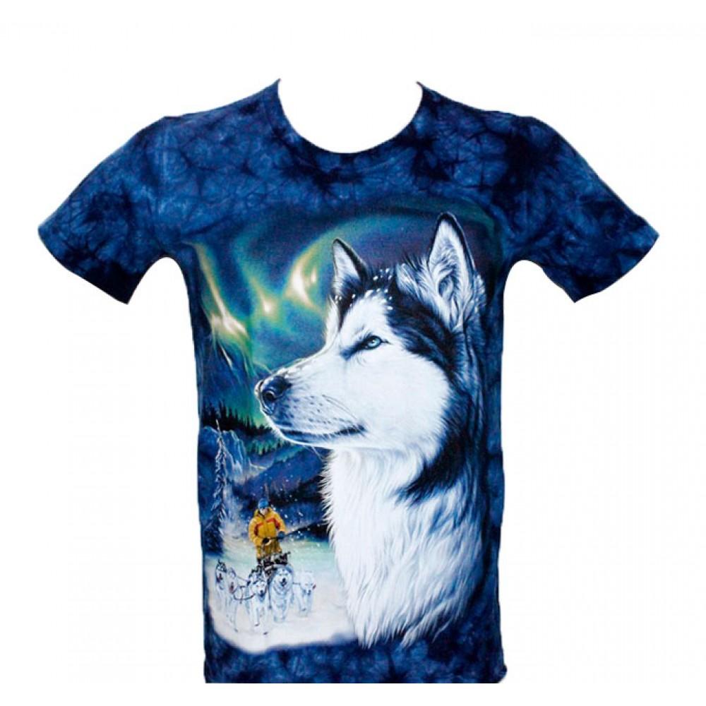 T-shirt Tie-Dye Siberian Husky