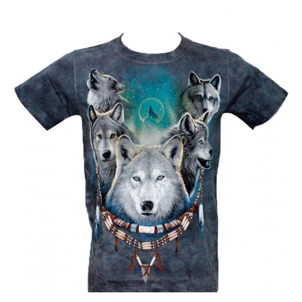 T-shirt Tie-Dye Beauty with Wolf Hat