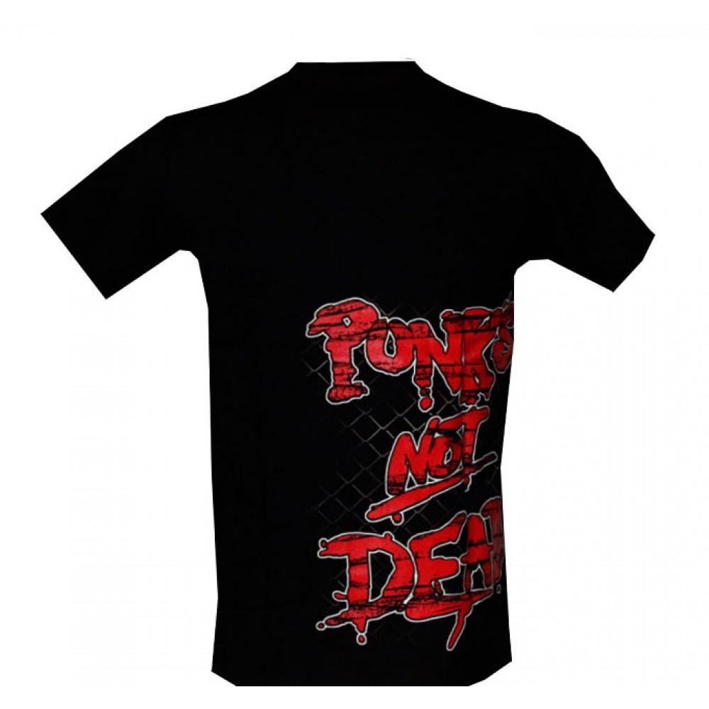T-shirt Punk Not Dead  Effect 3D and Noctilucent with Rivet