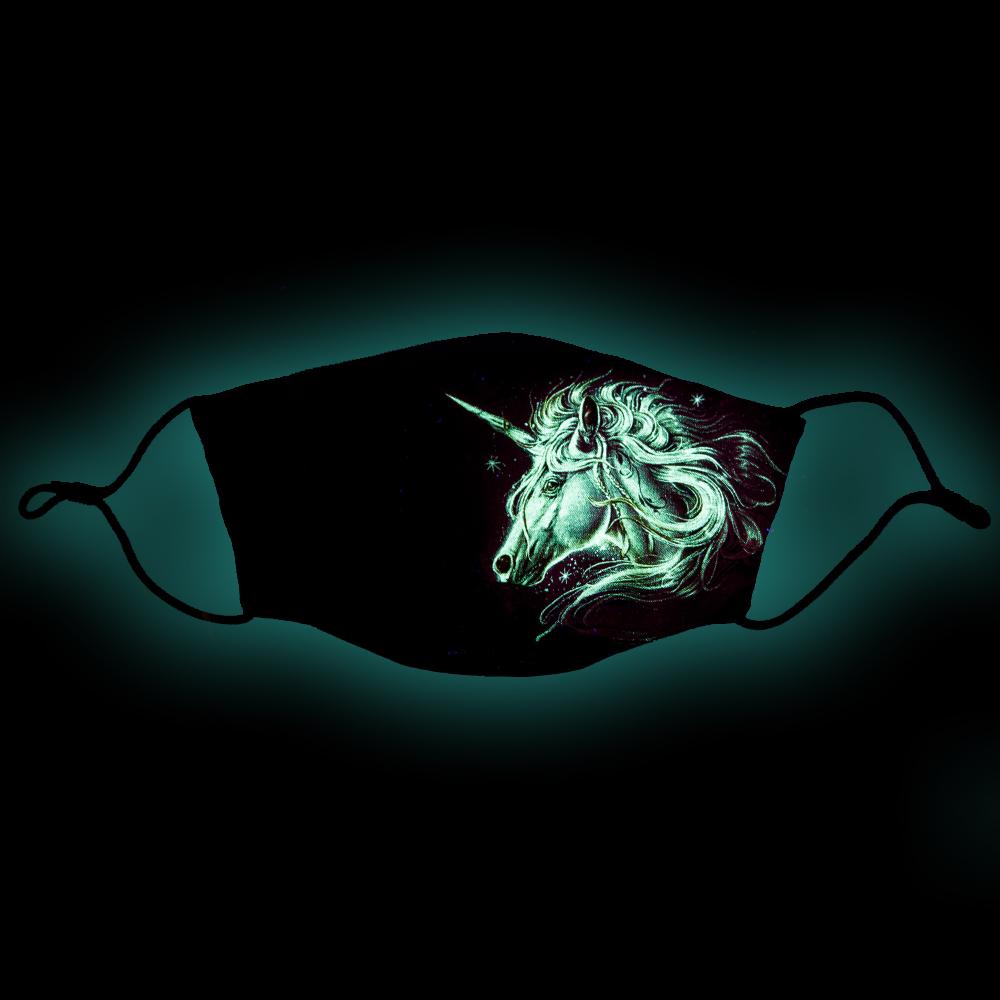 Mask with Unicorn print