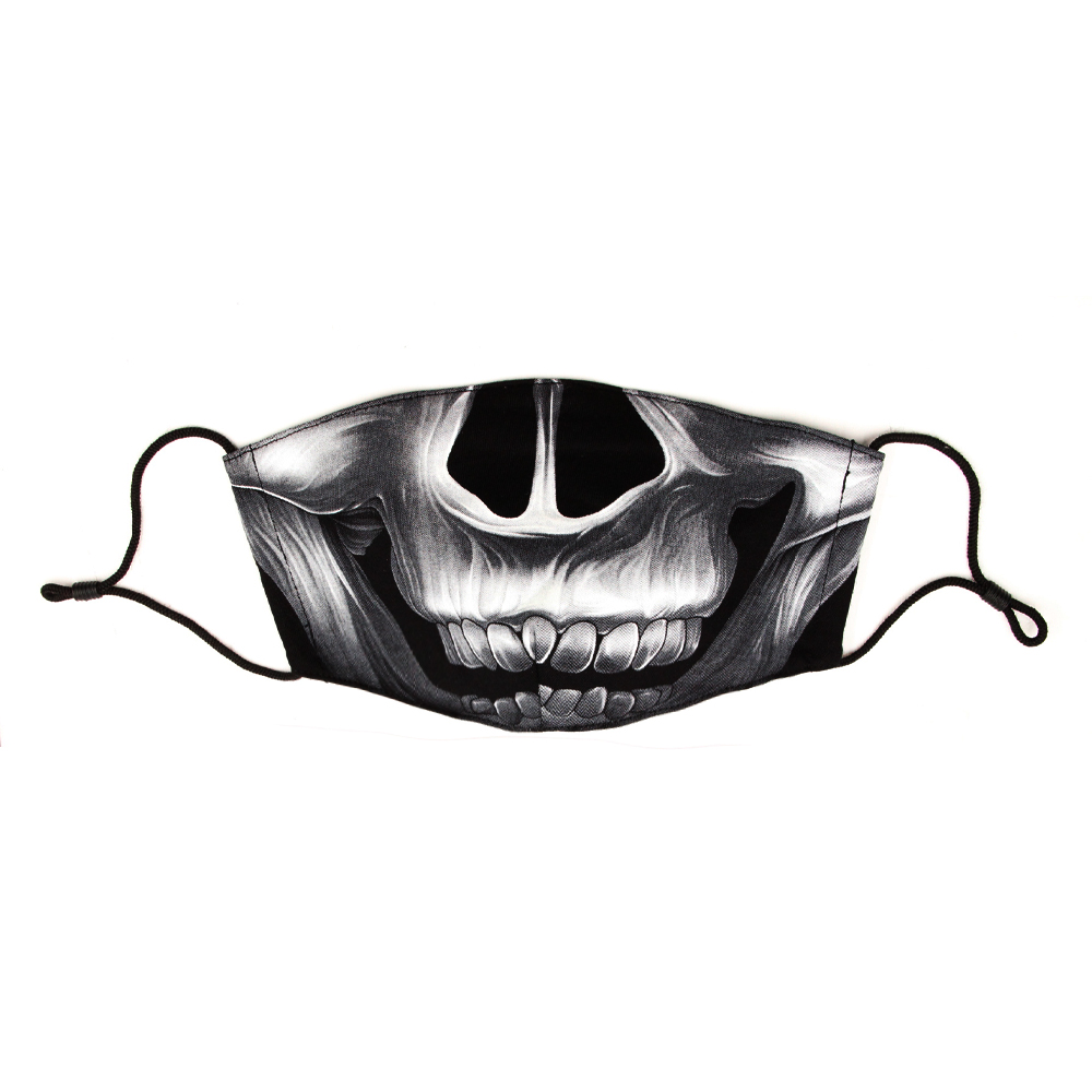 Mask with Skull print