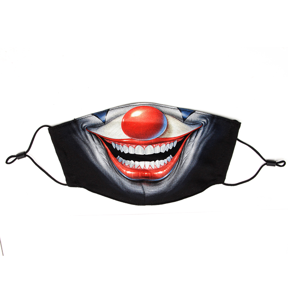 Mask with clown print