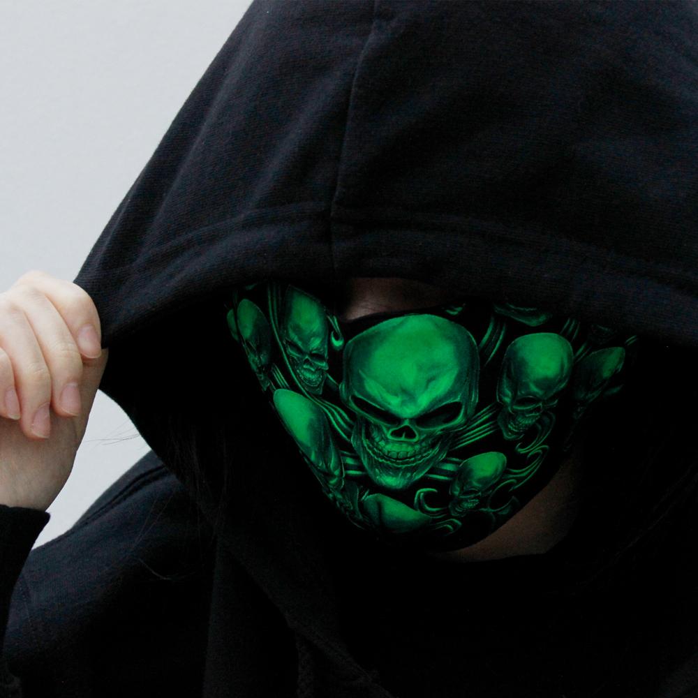 Mask with  Skulls print