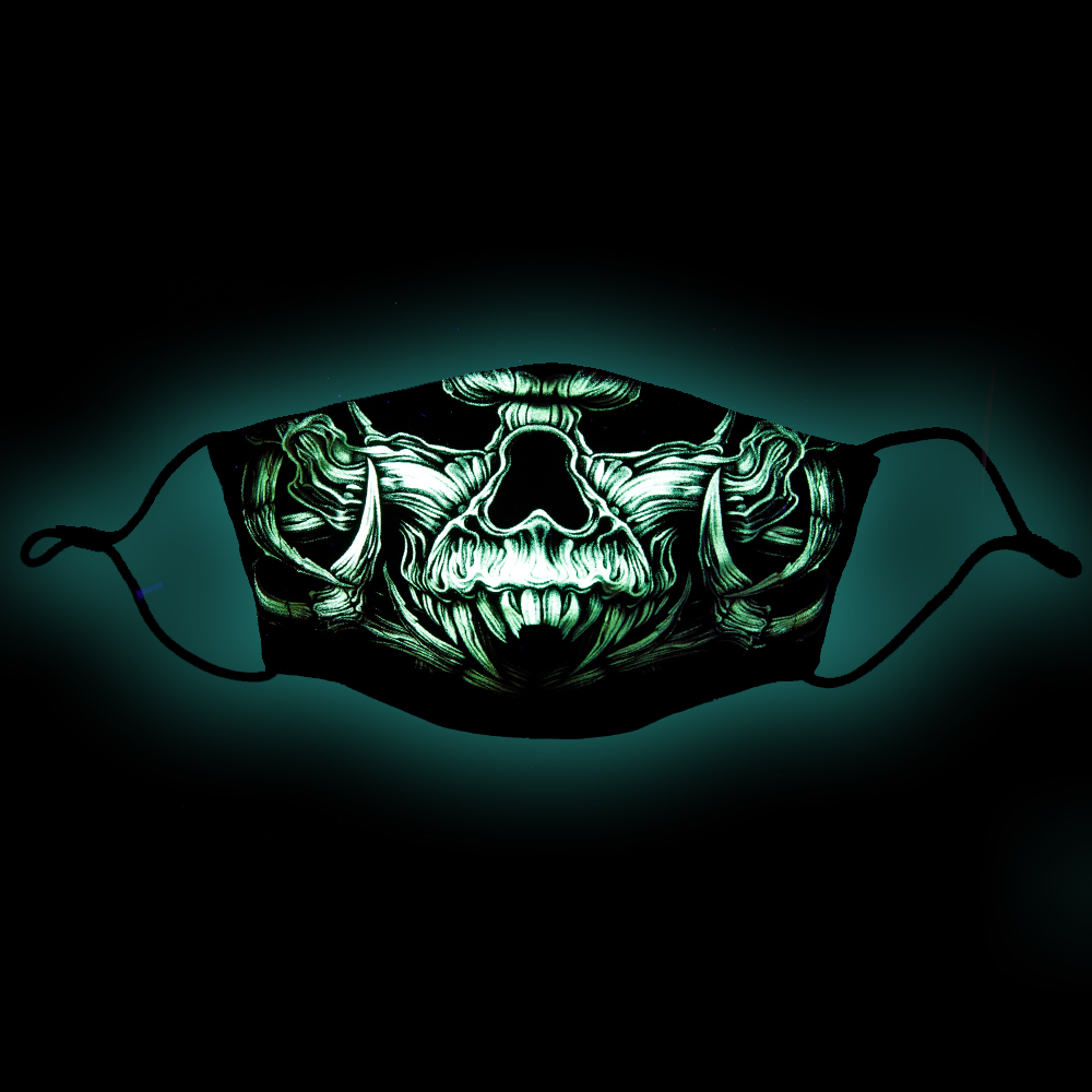 Mask with Death Skull print