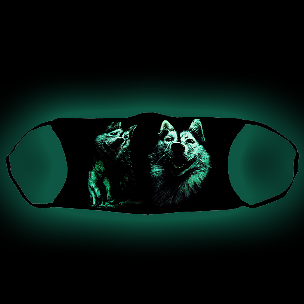 Print mask with Dog Alaskan Malamute