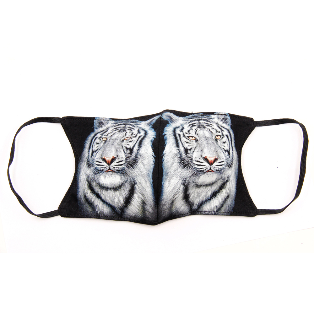 Print mask with White Tiger
