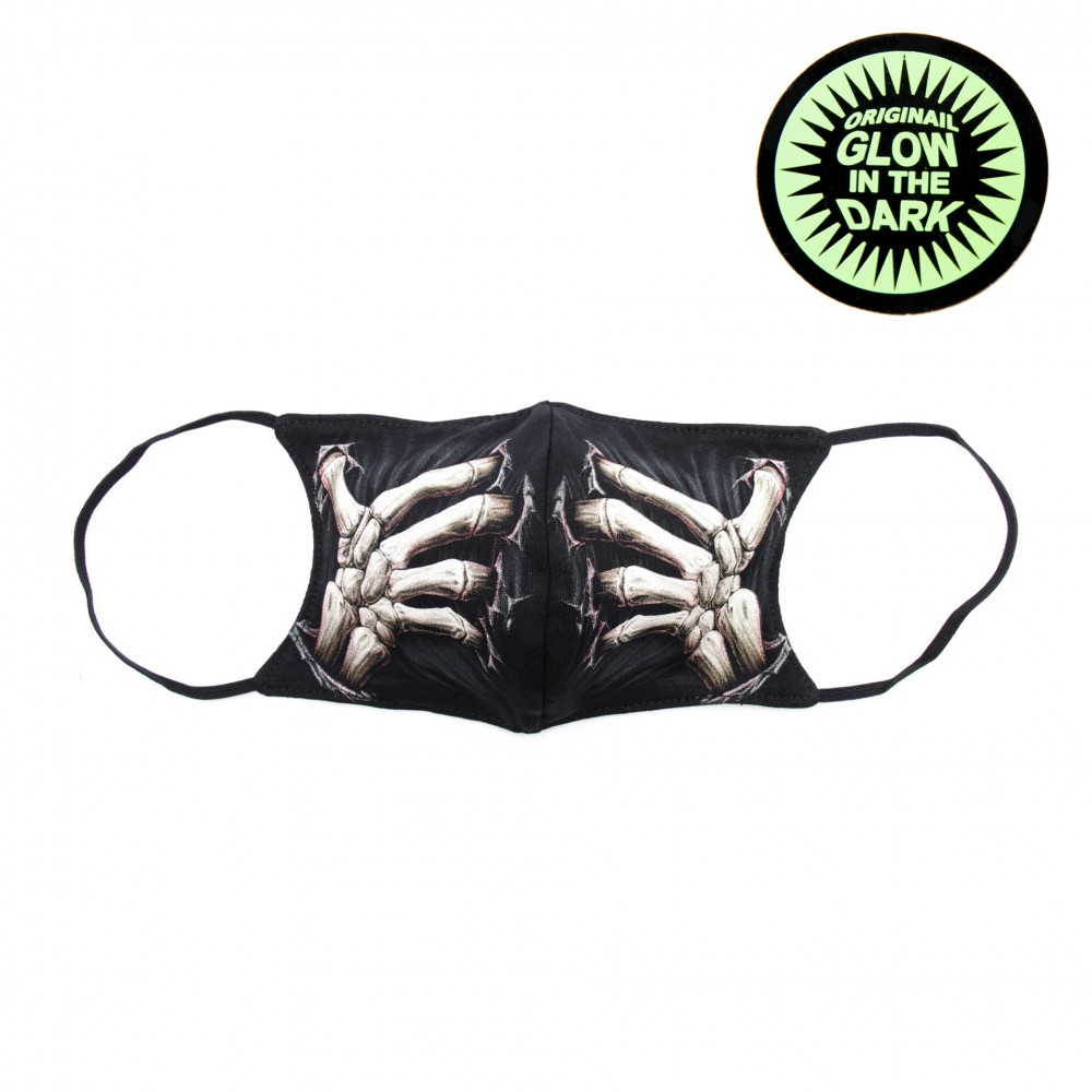 Print mask with Hand skull