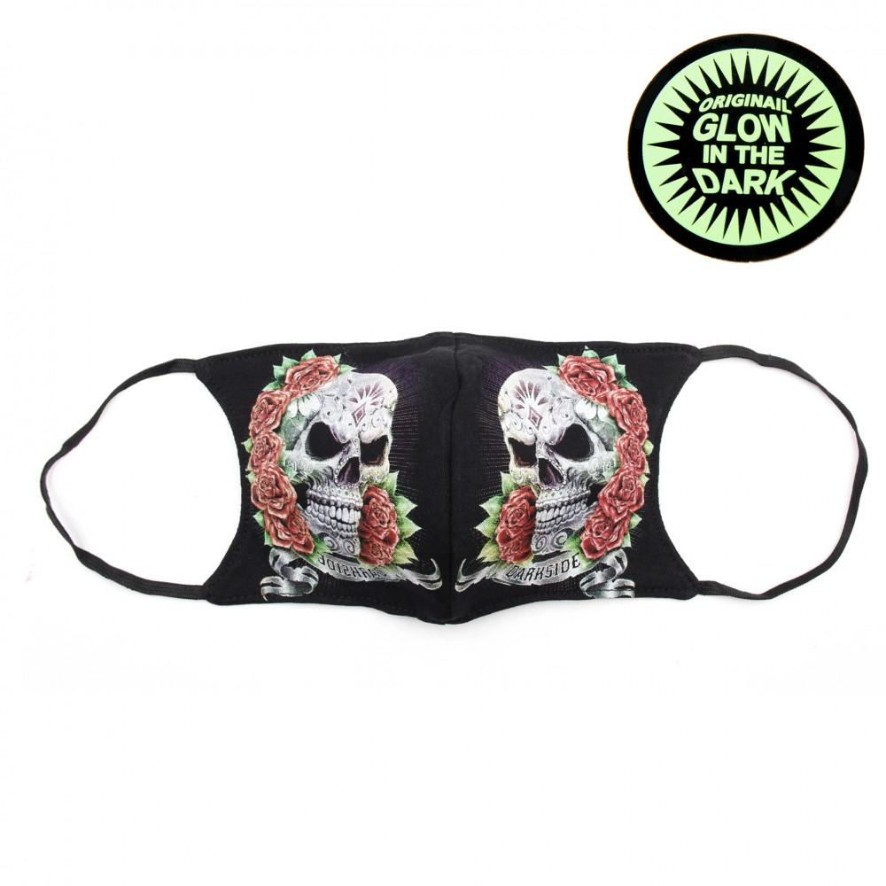 Print mask with skull