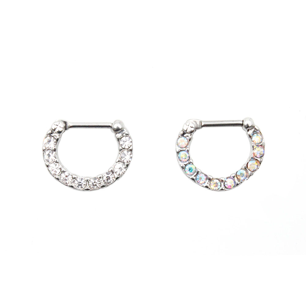 Septum Bezel Set Crystal