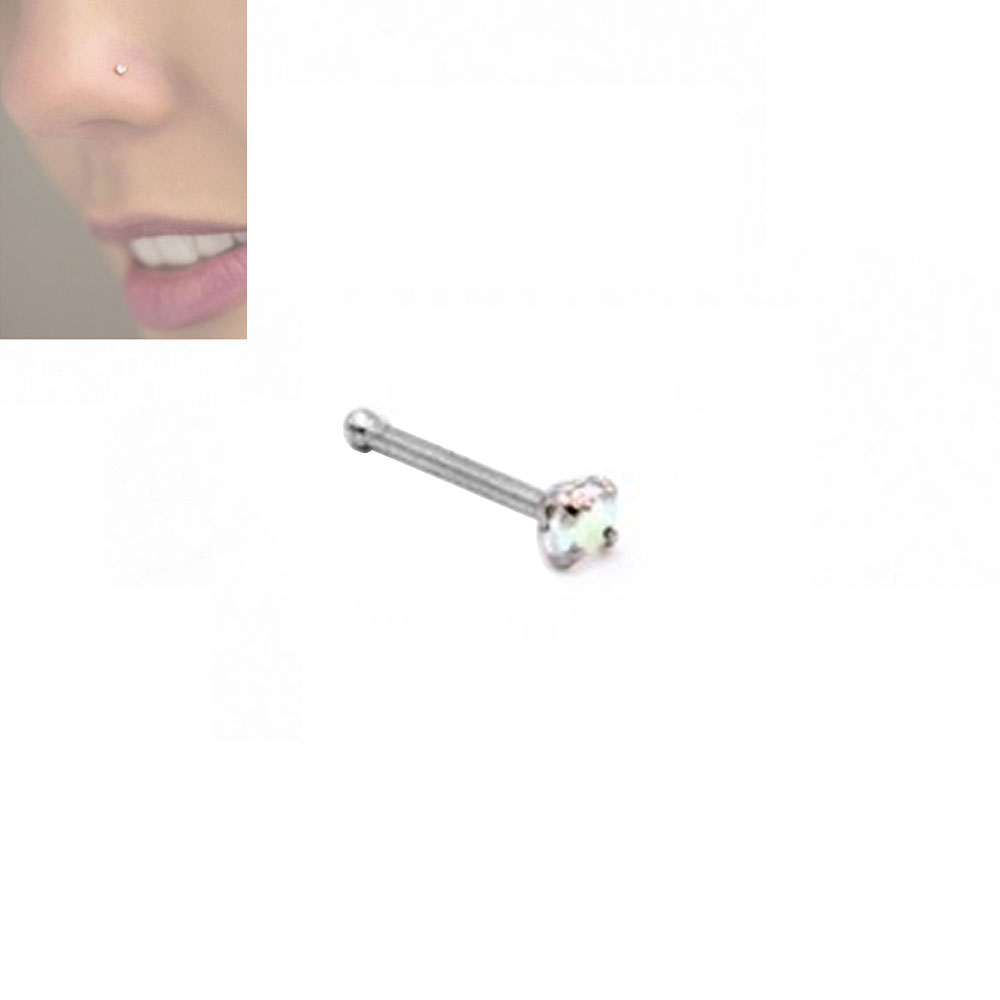 Nose Stud Straight Oval Stone