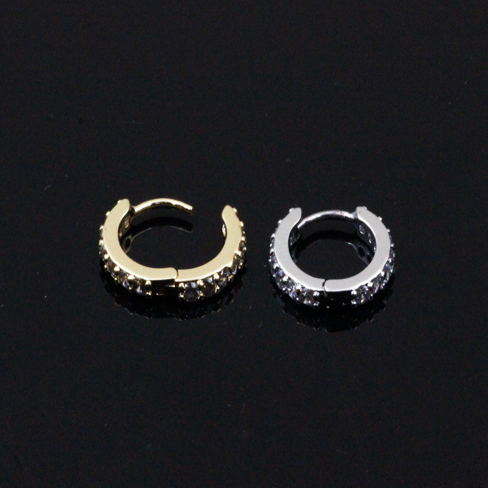 Septum Circle Ring with crystals