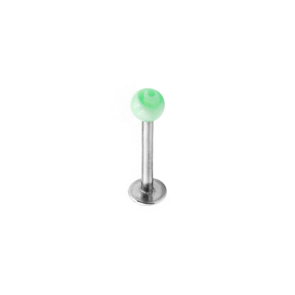 Labret with Green Ball