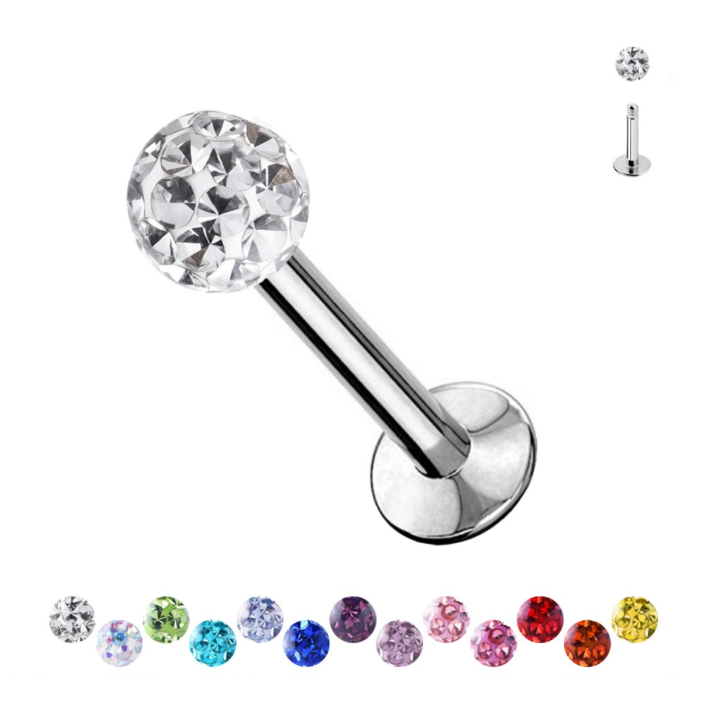 Labret Multi-Crystal Ball