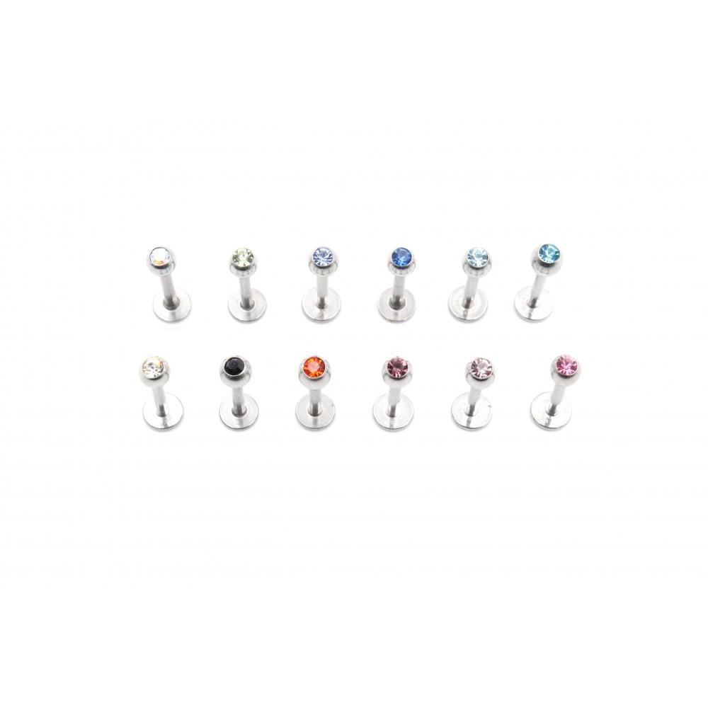 Labret Bezel-Set Crystal