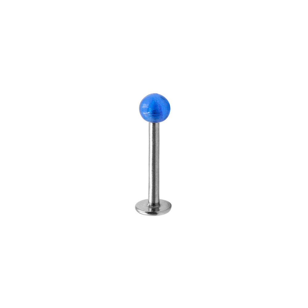 Labret with Blue Ball
