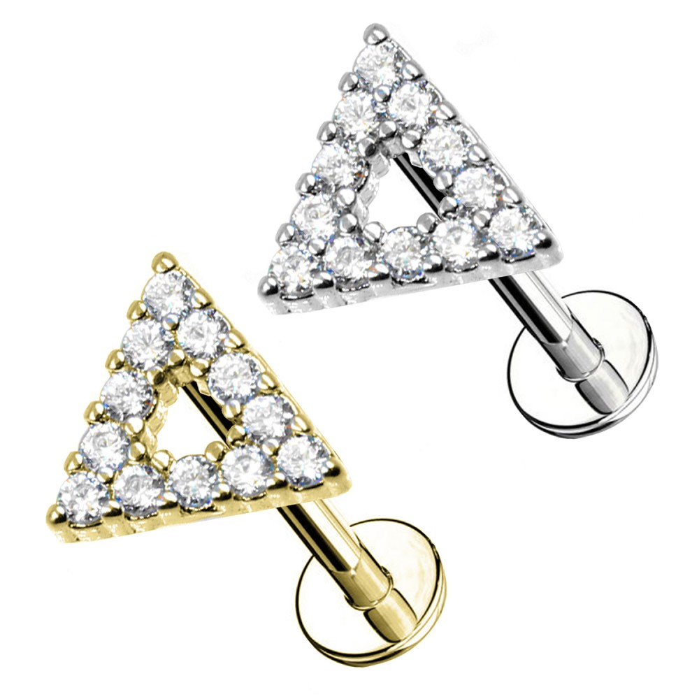 Cartilage Stud Triangle with crystal
