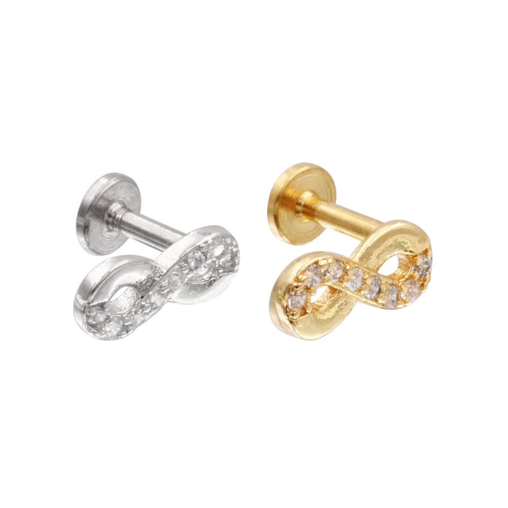 Cartilage Stud Elegant 8 with Crystal