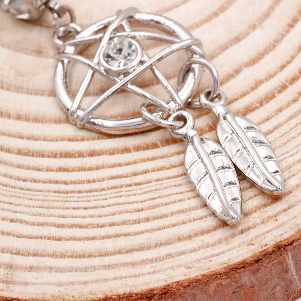 Banana Amulet with Feathers Dreamcatcher