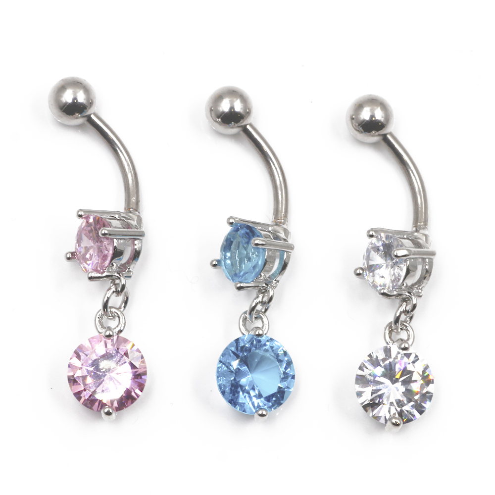 Piercing Navel Ball with Crystal a pendant