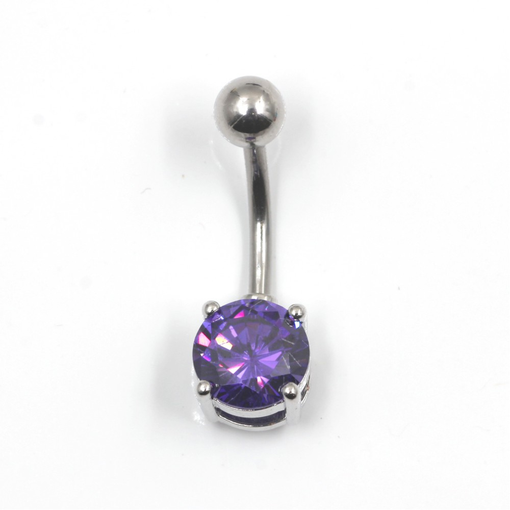 Piercing Navel Ball with Crystal