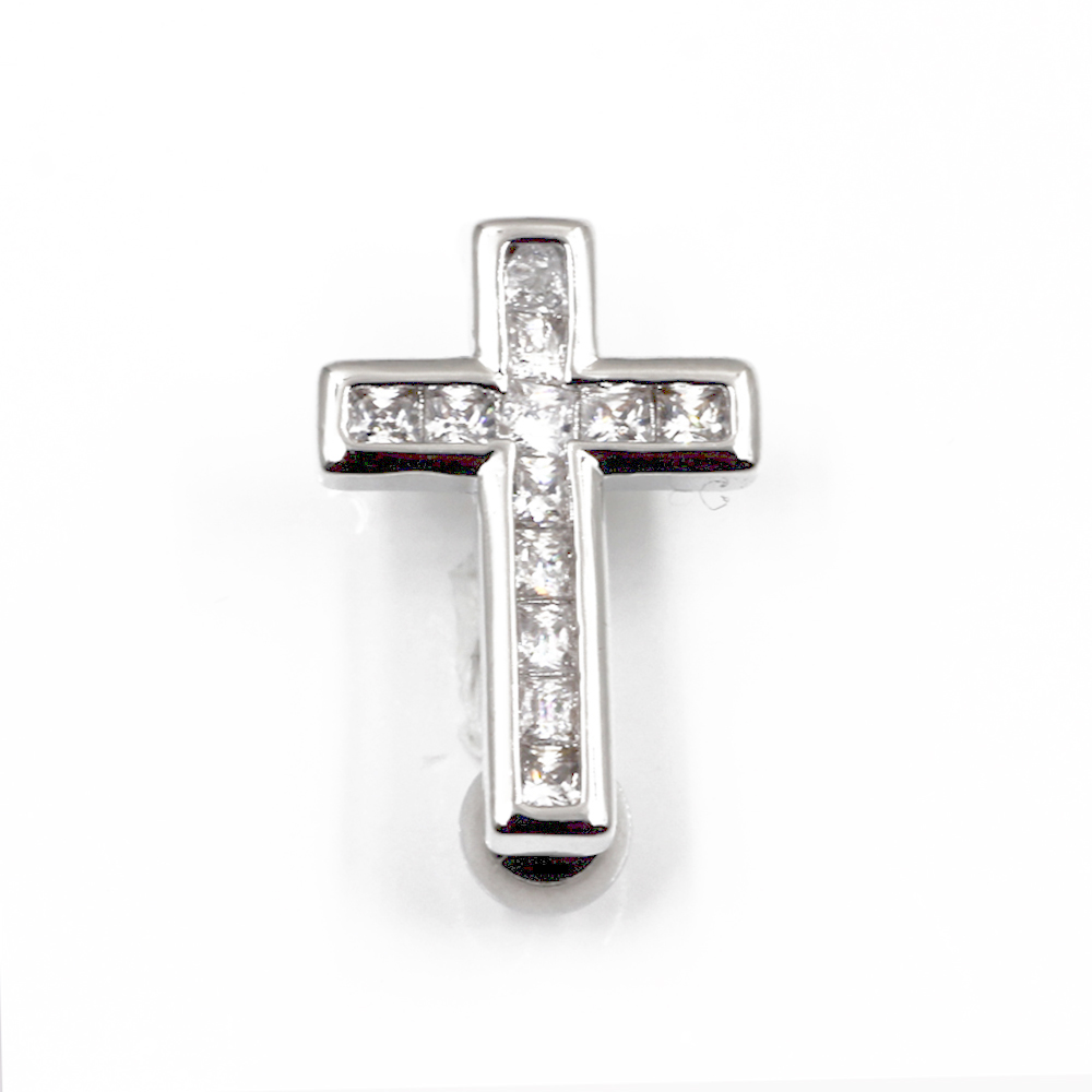 Navel Piercing with Cross Crystal