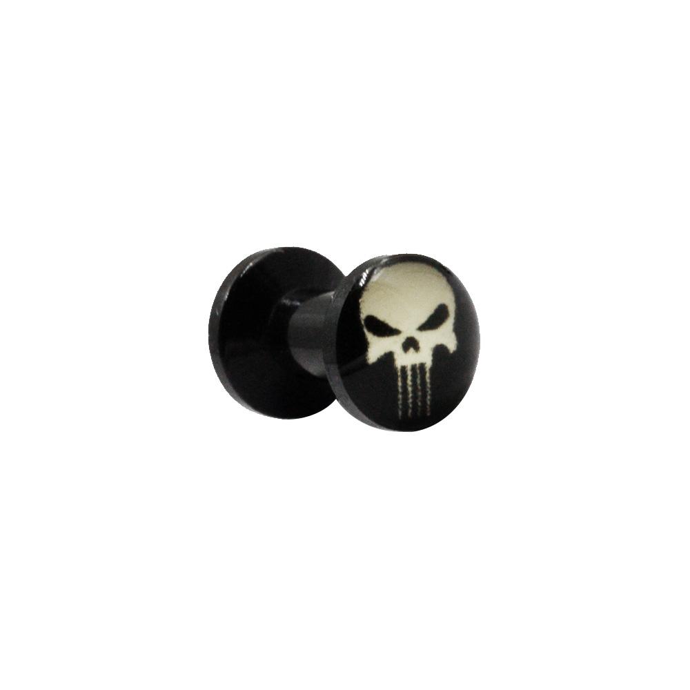 Plug Black with Skull