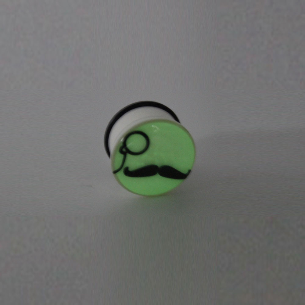 Plug Glow in the Dark Mustache and Glasses